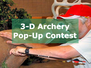3-D Archery Pop-Up Contest