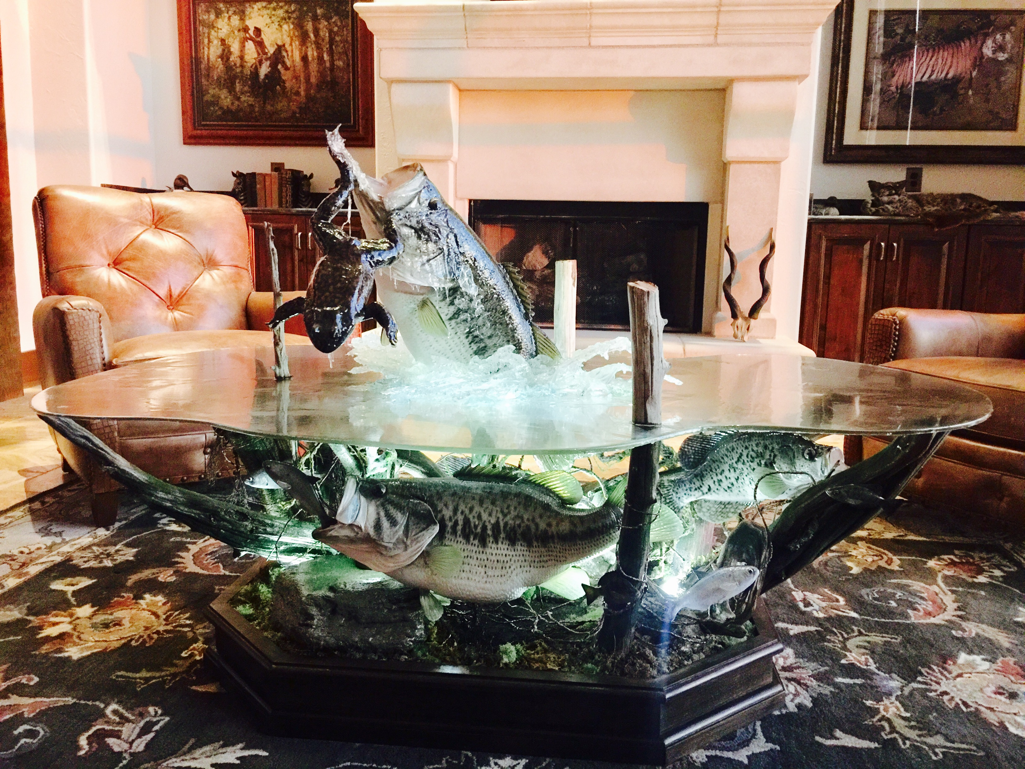 GIVEAWAYS Montgomery Productions Oklahoma Based Sportsman Shows - Bass coffee table